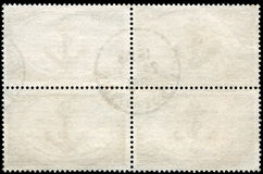 Blank Postage Stamp Framed by Black Border Royalty Free Stock Photography