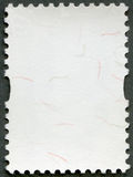 Blank postage stamp sheet on black background Royalty Free Stock Photos