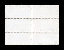 Blank Postage Stamp Sheet Stock Images