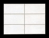 Blank Postage Stamp Sheet Royalty Free Stock Photography