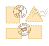 Blank postage stamp Royalty Free Stock Photos