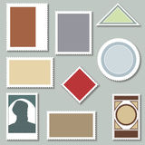 Blank Postage Stamps Stock Photos