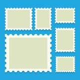 Blank postage stamps royalty free illustration