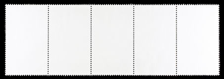 Blank Postage Stamps Royalty Free Stock Photo