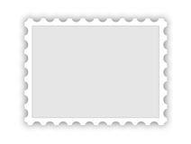Blank postal stamp Royalty Free Stock Photography