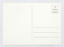 Blank Postcard Stock Photo