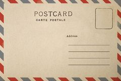 Blank of Postcard Stock Images
