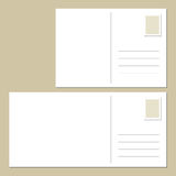 Blank postcard back. The back of blank postcards vector illustration