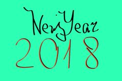 A blank for a postcard or a calendar. 2018 new year.  Royalty Free Stock Image