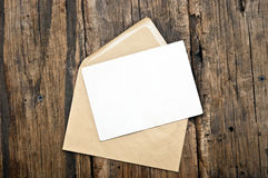 Blank postcard and envelope Royalty Free Stock Image