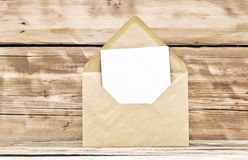 Blank postcard and envelope Royalty Free Stock Photography