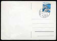 Blank postcard with stamp Royalty Free Stock Photo
