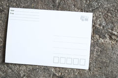 Blank postcard Stock Images