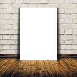 Blank poster as copy space template for your design Stock Image