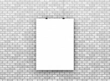 Blank poster billboard on wall Royalty Free Stock Photos