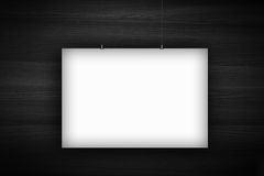 Blank poster billboard on wall Royalty Free Stock Image