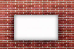Blank poster billboard on wall Royalty Free Stock Photography