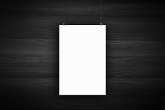 Blank poster billboard on wall Stock Images