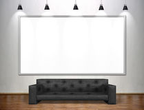 Blank poster in empty loft Royalty Free Stock Images