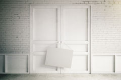 Blank poster Stock Images