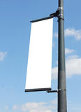 Blank poster on lampost Stock Photo