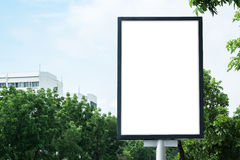 Blank Poster Mockup Template. With clipping path Royalty Free Stock Photography