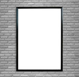 Blank poster photo frame on vintage brick wall. Blank poster photo frame on vintage grunge brick wall background Royalty Free Stock Photos