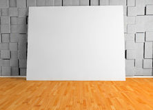 Blank poster in a room Stock Photos