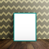 Blank poster in a room interior Stock Images