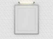 Blank poster in room with wall. Mock up, 3D. Rendering Royalty Free Stock Photography
