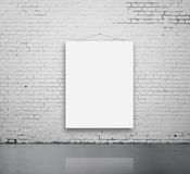 Blank poster on wall Stock Image