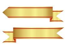 Blank Premium Ribbon Gold Set Royalty Free Stock Photo