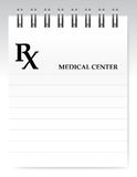 Blank prescription illustration design Royalty Free Stock Images