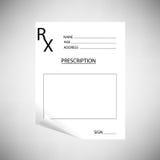 Blank Prescription Stock Photo
