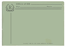 Blank prescription. Royalty Free Stock Image