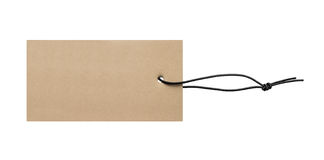 Blank price label tag. With strap Stock Photography