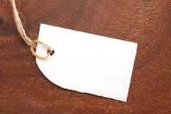 Blank price tag Stock Image