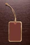Blank price tag Stock Photo