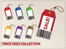 Blank price tags Stock Photos
