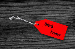Blank price tags on black wooden background Stock Photography