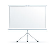 Blank Projection screen. On the white Stock Image
