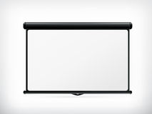 Blank Projection screen. Computer illustration on white background Stock Image