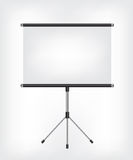 Blank Projection screen Royalty Free Stock Images
