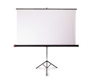 Blank projection screen with copy-space. Isolated on white Royalty Free Stock Photos