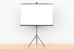Blank Projection Screen. In front of the wall Royalty Free Stock Photo