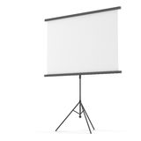 Blank projection screen on tripod Royalty Free Stock Photography