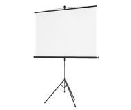 Blank Projection Screen. On a white background Stock Photo