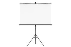 Blank Projection Screen. On a white background Stock Image