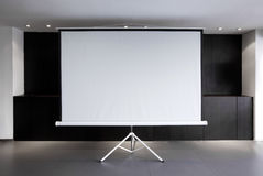 Blank projector canvas Stock Photos
