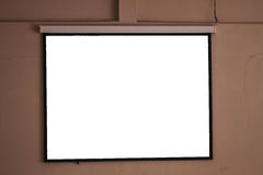 Blank projector canvas Stock Images